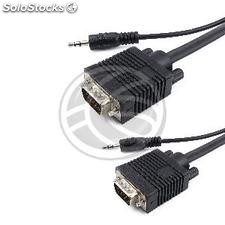 Super VGA cable with audio jack of 3.5 mm male male 15 meters (VZ06)