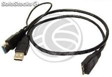 SuperSpeed usb 3.0 Cable Double Power (2AM/MicroUSB-m) 60cm (UT41)