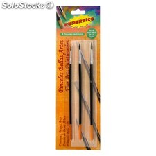 Supertite - Set de 3 pinceles redondos bellas artes