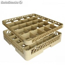 Supplement - casier de 36 compartiments 50x50x4,5 cm beige pp