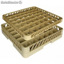 Supplement - casier de 49 compartiments 50x50x4,5 cm beige pp