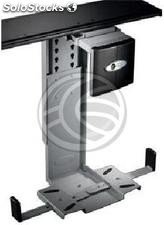 Support box for computer with sliding under desk adjustable 88-203mm (AC61)