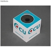 Support Cube Microphone pvc blanc - Photo 2