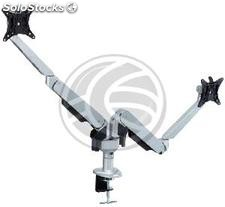 Support dual-screen TVs VESA 75mm 100mm table with articulated arm (OS61)