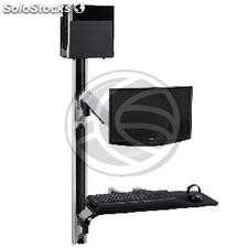 Support keyboard mouse computer screen wall with double articulated arm (OM32)