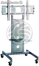 """Support stand with wheels and shelves for flat screen 32 \""""- 55\"""" (OM03)"""