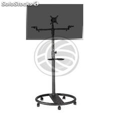 Support stand with wheels for flat screen TV VESA 50 75 100 200 and speakers
