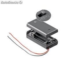 supporto per 2 batterie stilo (aa) con interruttore custodia 12443