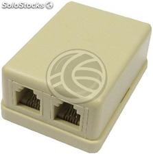 Surface box 2-RJ11 Cat.3 (RI02)