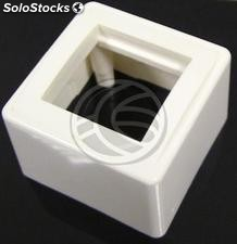 Surface box for 2 modules 75x75x48mm 45x22 5mm (MA21)