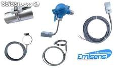 surface temperature probe with head for pipe
