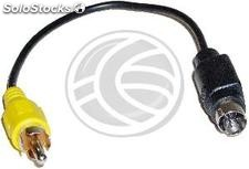 Svhs to Composite Video adapter-7 (rca-m/MiniDIN7-m) (AY75)