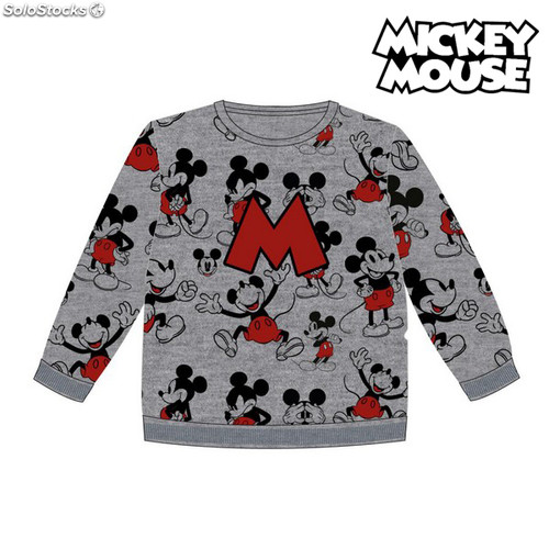 Sweat shirt Enfant Mickey Mouse 74249 Gris