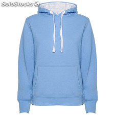 Sweat-shirt Femme bleu ciel/blanc casual collection invierno