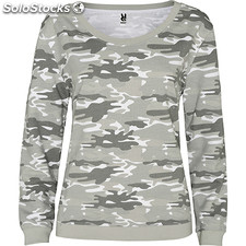 Sweat-shirt Femme camouflage gris nature street collection