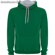 Sweat-shirt Homme vert bouteille/gris casual collection invierno
