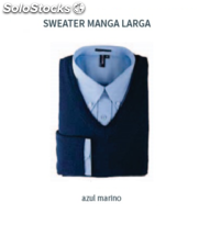 Sweater Hombre - Manga Larga - Color Azul Marino