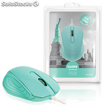 Sweex Ratón USB New York con laterales de caucho, cable USB de 1,5 metros,