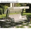 Swing chair lord - mod. 1288 - 4-seater - rounded charcoal plasic-coated steel