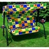 Swing chair lord - mod. 1431 - 3-seater - rounded green plasic-coated steel