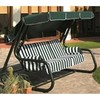 Swing chair master piu' - mod. 1361 - 4-seater - rounded green plasic-coated