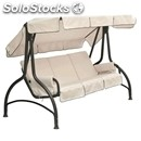 Swing chair splendido - mod. 1592 - 4-seater - rounded charcoal plasic-coated