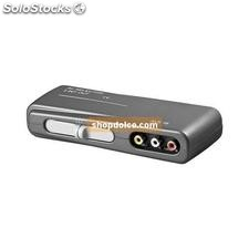 switch box audio e video 3 ingressi a 1 uscita rca con selettore 60925
