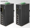 Switch Industrial de 4 Ptos PoE + 1 100fx