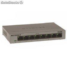 Switch netgear FS308-100PES 8p 10/100Mb caja metal
