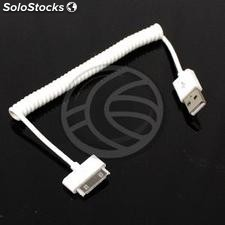 Sync and Charge Cable for iPOD iPhone and iPad 30pin USB 1m curly (OD17)