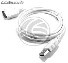 Sync and Charge Cable for iPod iPhone and iPad USB White 1m (OD02-0002)