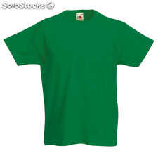 T-Shirt Criança Côr Valueweight Green 3-4