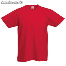 T-Shirt Criança Côr Valueweight Red 9-11