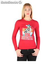 t-shirt donna love moschino rosso (36593)