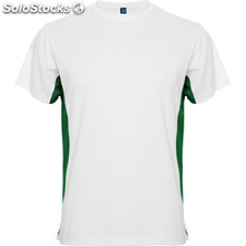 t-shirt Homme blanc/vert kelly sport collection