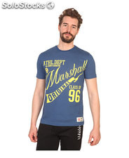 t-shirt uomo marshall original blu (41442)