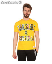 t-shirt uomo marshall original giallo (41434)