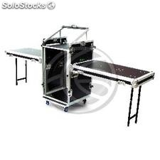 "Tabela de controle Audiovisual rack 19"" 18U RackMatic (MC74)"
