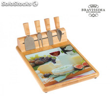 Tabla y cuchillos para queso by Bravissima Kitchen