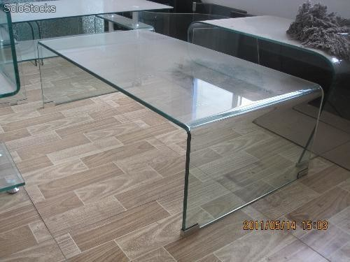 Table basse en verre tremp for Table basse en verre trempe
