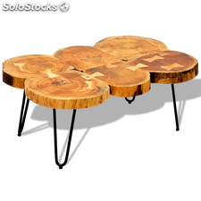 Table basse Table d'appoint en bois massif Sheesham 35 cm 6 troncs
