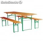 Table et banc pliant Salsa