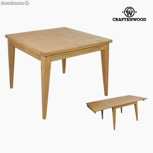 Superbe Table Extensible Bois Mindi (100 X 100 X 78 Cm) By Craftenwood