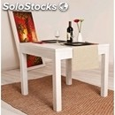 Table for restaurant-mod. 150-frame and top in toulipier in 4 legs-solid white