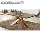 Table-mod. t9a-structure and mdf veneer walnut-fixed-quantity affordable #