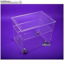 Table plexiglas robus