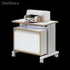 Table pour machine de bureau gris clair - 85450