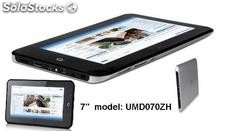 "Tablet 7"" pc/mid/umd android2.3 Imapx210@1GHz 512m/4gb ultra-Silm tela capacitiva"