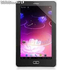 Tablet com Celular pc Android 4.0 capacitivo em 3g e ch de vídeo 4g capa com