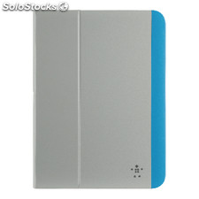 "Tablet Folio Case Galaxy Tab 4 10.1"""" Pu Grey / Blue"